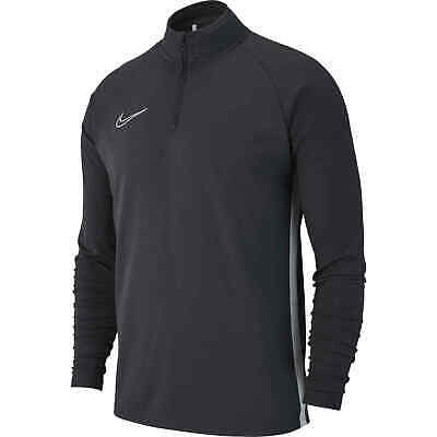 Nike Academy 19 Mens 1/4 Zip Neck Long Sleeve Football Training Top Anthracite
