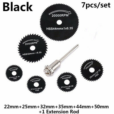 7Pcs Wheel Cutting Blades 22-50mm HSS Saw Disc For Dremel Drills Rotary Tool New