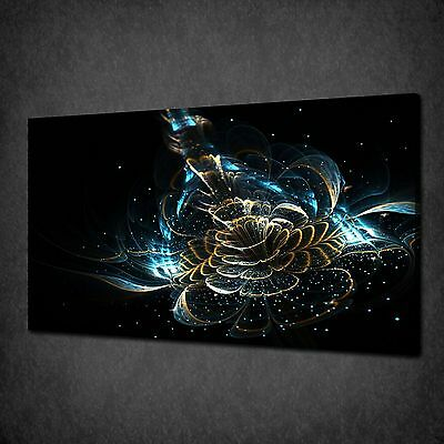 Shiny Fractal Flower Modern Canvas Wall Art Print Picture Ready To Hang