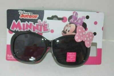MINNIE MOUSE SUNGLASSES-UV Protection-Pink Bow on Frame-Minnie on Arms-Age3+ NEW