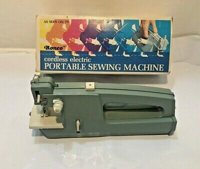 TESTED GOOD 1972 Vintage Cordless Hand Held Portable Sewing Machine By RONCO