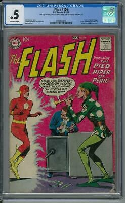 Flash #106 CGC .5 (OW) 1st appearance of Gorilla Grodd and Pied Piper.