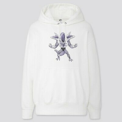 UNIQLO DRAGON BALL Z SWEAT FRIEZA WHITE UT MEN 423991 JAPAN Tracking