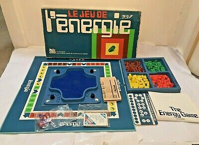 The Energy Game - Le Jeu De L'energie - Vintage French Board Game + English Rule