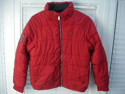 Tommy Hilfiger Puffer Jacket Red Girls size M Age 10-12 Years
