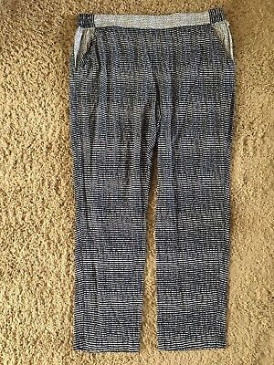 CABI  Strand PANTS size XL  #5109 Navy Blue White Spring 2016  Ret $99  EUC HZ88