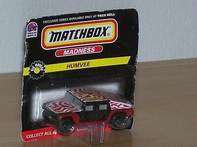 Matchbox Taco Bell Madness Humvee Collectible Car Red Black Mint on Package