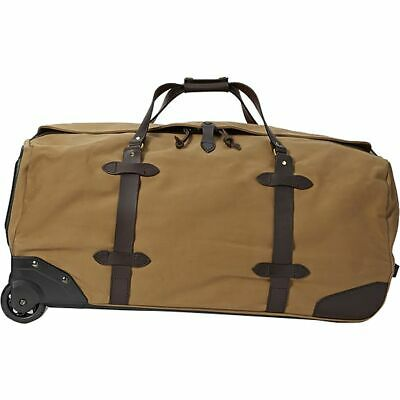 Filson Leather & Tin Cloth Large Rolling Travel Bag / Luggage / Duffle 11070375