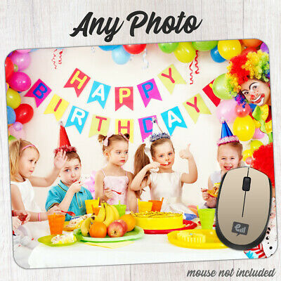 Personalised PHOTO Mouse Pad Your Picture Computer Mousemat NON SLIP Rubber