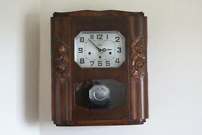 vintage  french-Wall Clock IROD two tunes westminster/another?.with pendulum GWO