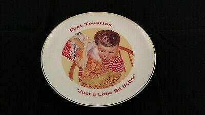 """Collectible Plate Advertising Post Toasties 8"""" Vintage"""