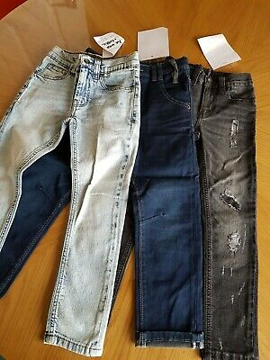 3 Pairs Boys Jeans Age 6 approx height 116cm B.N.W.T