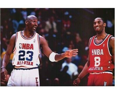 Michael Jordan & Kobe Bryant Poster 24x36 Two Titans of NBA Basketball