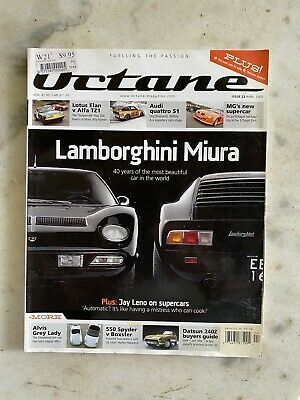 Octane Magazine Issue No 22  April 2005 Lamborghini Miura Lotus Audi MG Dat 240Z