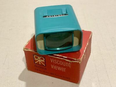 Vintage Paterson Viscount Viewer for 35mm and 4x4cm Slides with Original Box