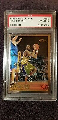 1996-97 96 Topps Chrome Kobe Bryant Rookie RC PSA 8 NM-MT #138 Lakers Mamba