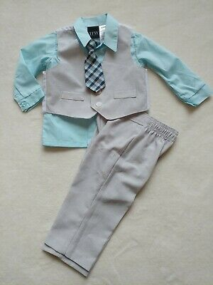 Infant Boy/'s TFW Baby Pant Set 3-pc 1//4 Zip Sweater Long Sleeve Shirt Pants