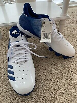 Adidas Icon 4 Md Men's Sz 8  Blue White Baseball Cleats Athletic Shoes Brand New