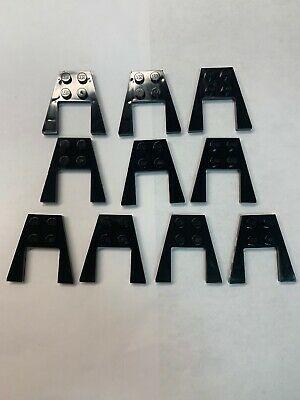 LEGO NEW 4x4 Dark Stone Grey Wing 2x2 Cutout 10x 4561036 4234938 Brick 43719