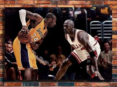 T404 New Kobe Bryant VS Michael Jordan Basketball MVP 24x36 27x40 Art Poster