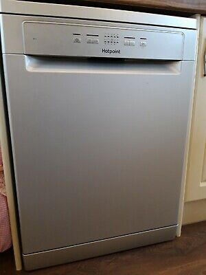 Rated Dishwasher Silver Hotpoint HAFC2B+26SV Freestanding A+