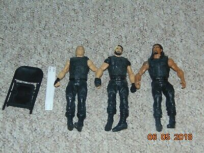 Mattel WWE Figures * 3, The Shield; Roman Reigns, Seth Rollins and Dean Ambrose
