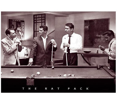 The Rat Pack Poster Ocean's 11 Pool Billiards Frank Sinatra Dean Martin NEW