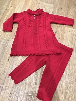 Sarah Louise Knitted 2 Piece Outfit 18 Months Excellent Condition