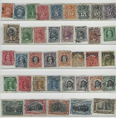 Old stamps from 1867 Chile 2 scans