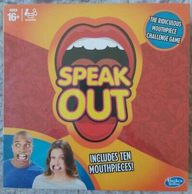 SPEAK OUT Hasbro- FAMILY BOARD GAME -NEW &SEALED - Hilarious Christmas game