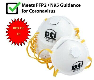 WHO Approved Face Dust Mask Meets FFP2/N95 Guidance Valve P2 Respirator BX10