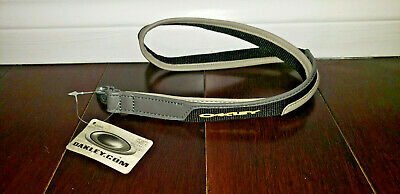 Oakley Lanyard PANELED LEATHER Keychain Rare SI ELITE TACTICAL BLACK