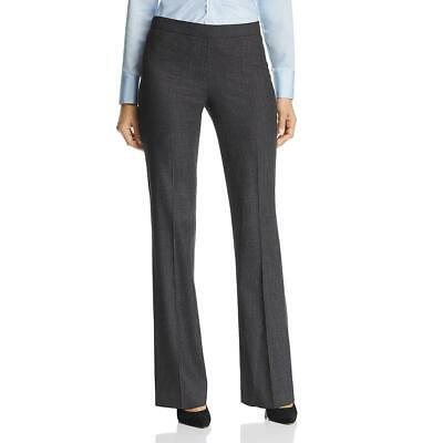Hugo Boss Womens Tulea Black Wool Dressy Straight Leg Pants Trousers 8 BHFO 8276