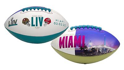Super Bowl LIV (54) Official Full Size 49ers vs. Chiefs Dueling Football