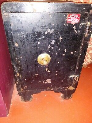 Antique Iron Safe On Wheels (Functional)