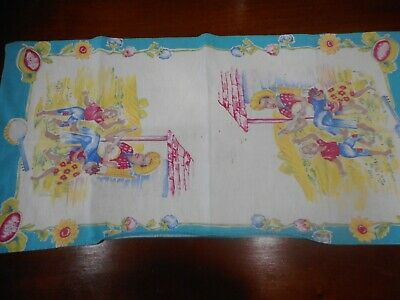 Vintage Black Americana  Small Table Cloth/Quilt Square/Table Runner