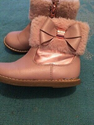 Girls Pink Ted Baker Boots Infant 7