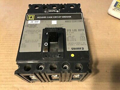 Square D, Molded Case Circuit Breaker, FAL36030