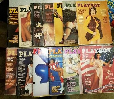 Lot of Playboy Magazines 1972-1977