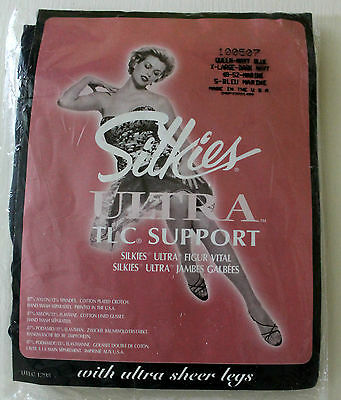 Silkies 100507 Extra Large Navy Blue Ultra TLC Support Tights