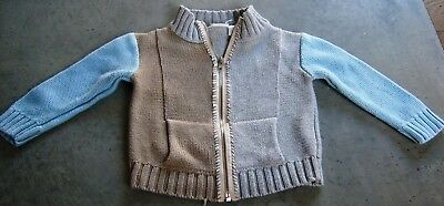 Seed Boys  Cotton Knit Zip Front Cardigan Sz 6 - 12 Months