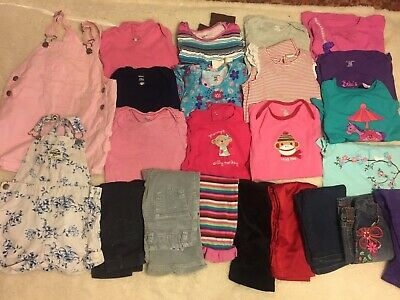 24 months Girl Lot Tops Pants Jeans Rompers Carters Old Navy Gap Oshkosh TCP