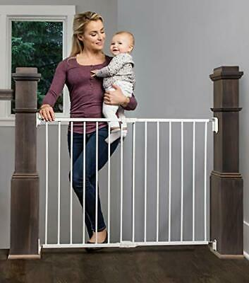 Regalo 2-in-1 Extra Wide Stairway and Hallway Walk Through Baby Safety Gate