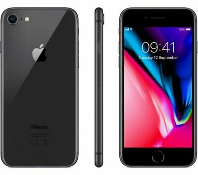 Apple iPhone 8 A1905 64GB 12MP IOS Mobile Smartphone Locked EE Space Grey ~