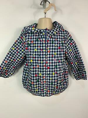 Girls Baby Gap Blue Star Pattern Light Weight Casual Jacket Coat Kids Age 2 Year