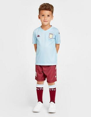New Kappa Boys' Aston Villa FC 2019/20 Away Kit Children