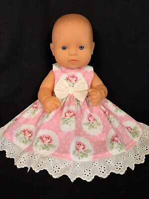 Dolls clothes made to fit 32cm Miniland  Dolls (size Small).  Sleeveless Dress