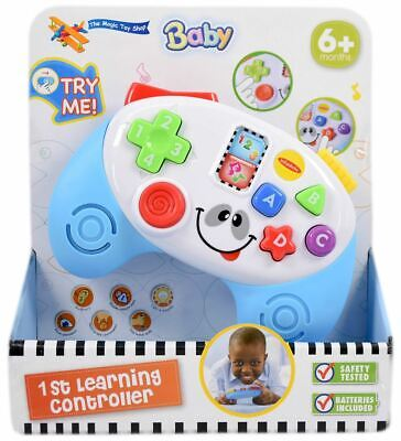 Baby Musical Game Controller Toy Toddler Bilingual Game With Lights & Sounds