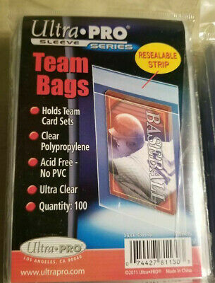 1 Pack of (100) Ultra Pro Trading Card Team Set Bags Resealable