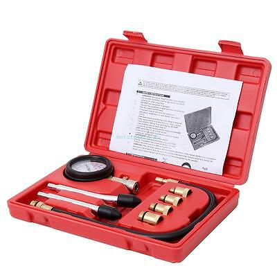 Ridgeyard Petrol Gas Engine Cylinder Compression Tester Gauge Auto Tool Kit